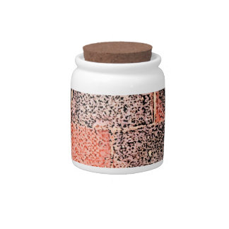 Brick Wall. Digital Art. Candy Jars