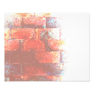 "Brick Wall. Digital Art. 4.5"" X 5.6"" Flyer"