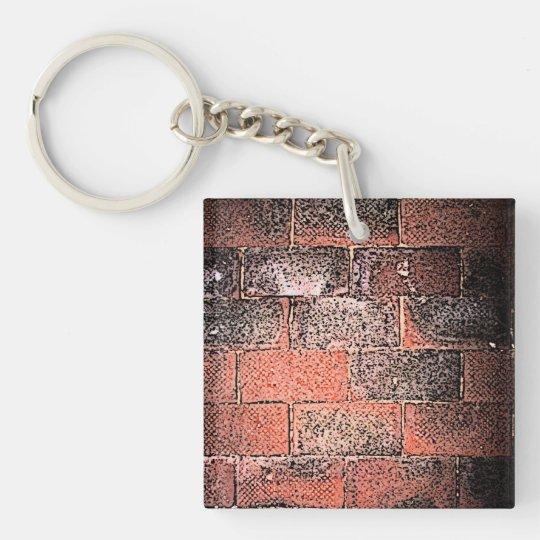 Brick Wall. Digital Art. Keychain