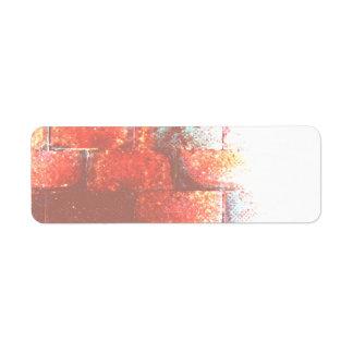 Brick Wall. Digital Art. Custom Return Address Label