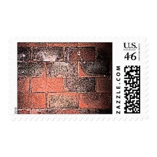 Brick Wall Digital Art Postage Stamp