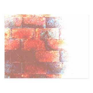 Brick Wall. Digital Art. Postcard