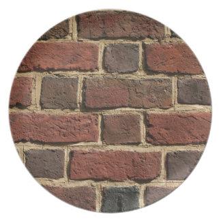 Brick Wall Dinner Plate