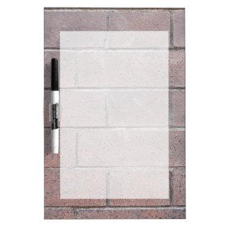 Brick Wall Dry Erase Board