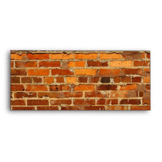 Brick wall envelope w/window