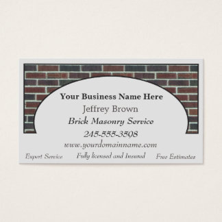 Brick Wall Framed Business Cards