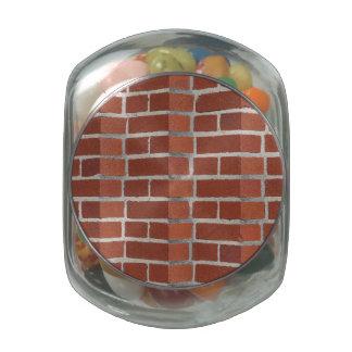 Brick Wall Glass Candy Jars