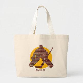 Brick Wall Goalie Canvas Bag