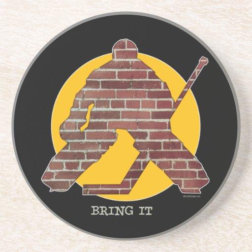 Brick Wall Goalie Coasters