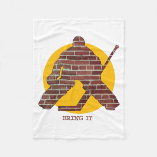 Brick Wall Goalie Fleece Blanket