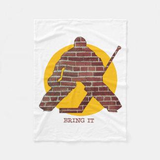 Brick Wall Goalie Fleece Blanket