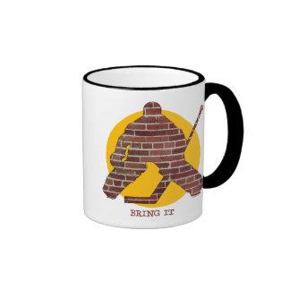 Brick Wall Goalie Mugs