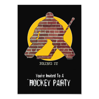 Brick Wall Goalie Party invitation