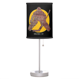 Brick Wall Goalie Table Lamps
