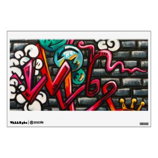"""Brick Wall Graffiti 12""""x18""""Wall Decal"""