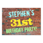 [ Thumbnail: Brick Wall Graffiti Inspired 31st Birthday + Name Invitation ]