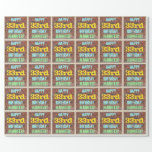 [ Thumbnail: Brick Wall Graffiti Inspired 33rd Birthday + Name Wrapping Paper ]