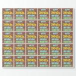 [ Thumbnail: Brick Wall Graffiti Inspired 36th Birthday + Name Wrapping Paper ]