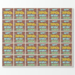 [ Thumbnail: Brick Wall Graffiti Inspired 38th Birthday + Name Wrapping Paper ]