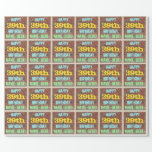 [ Thumbnail: Brick Wall Graffiti Inspired 39th Birthday + Name Wrapping Paper ]