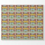 [ Thumbnail: Brick Wall Graffiti Inspired 48th Birthday + Name Wrapping Paper ]