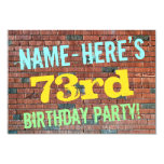 [ Thumbnail: Brick Wall Graffiti Inspired 73rd Birthday + Name Invitation ]