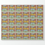 [ Thumbnail: Brick Wall Graffiti Inspired 73rd Birthday + Name Wrapping Paper ]