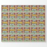 [ Thumbnail: Brick Wall Graffiti Inspired 78th Birthday + Name Wrapping Paper ]