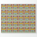 [ Thumbnail: Brick Wall Graffiti Inspired 88th Birthday + Name Wrapping Paper ]