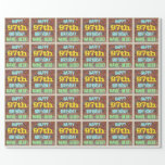 [ Thumbnail: Brick Wall Graffiti Inspired 97th Birthday + Name Wrapping Paper ]