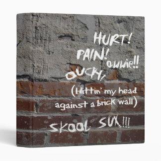 Brick Wall Graffiti School Binder