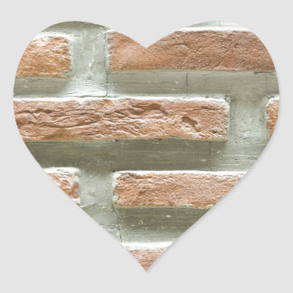 Brick wall heart sticker