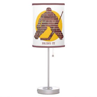 Brick Wall Hockey Goalie Desk Lamp