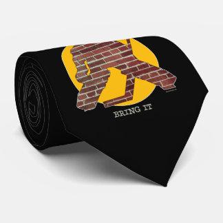 Brick Wall Hockey Goalie Neck Tie