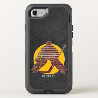 Brick Wall Hockey Goalie OtterBox Defender iPhone 8/7 Case