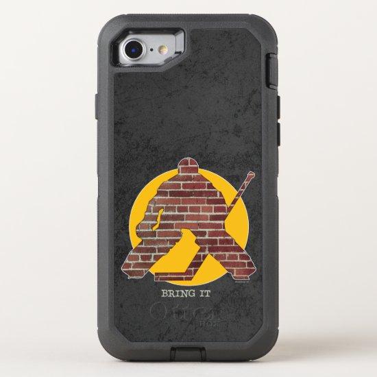 Brick Wall Hockey Goalie OtterBox Defender iPhone 8/7 Case
