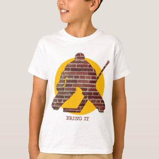 Brick Wall Hockey Goalie T-Shirt