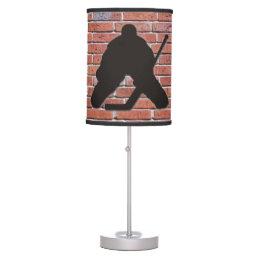 Brick Wall Hockey Goalie Table Lamp