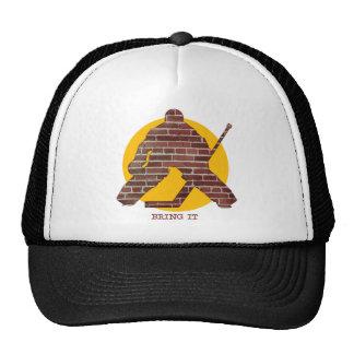 Brick Wall Hockey Goalie Trucker Hat