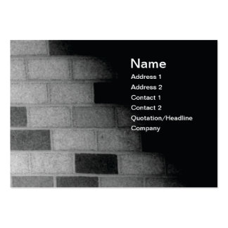 brick wall in black and white large business card