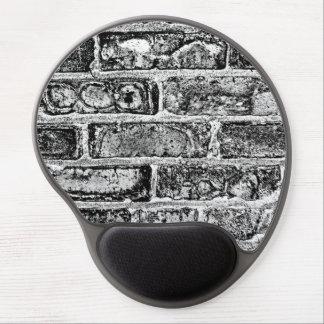 Brick Wall in Black White Gel Mousepads