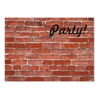Brick Wall 5x7 Paper Invitation Card