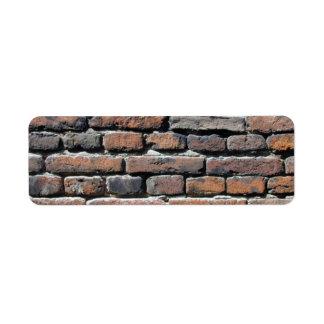 Brick Wall Custom Return Address Label