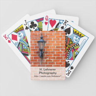 Brick Wall Light Bicycle Playing Cards