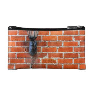 Brick Wall Light Makeup Bag