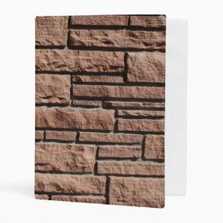 Brick Wall Mini Binder