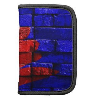 Brick Wall Painted Blue Red Pattern Gifts Organizer