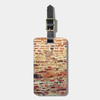 Brick Wall Pattern Bag Tag