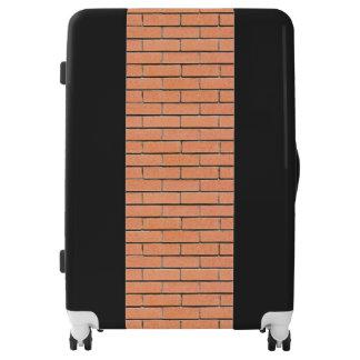 Brick wall pattern luggage