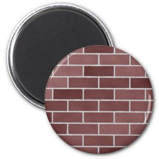 Brick wall pattern refrigerator magnet